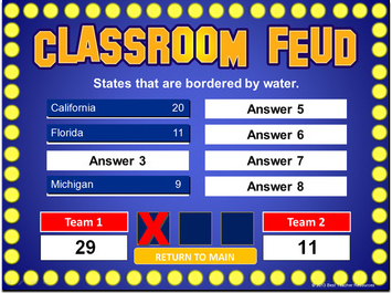 family feud powerpoint template - classroom game, Modern powerpoint