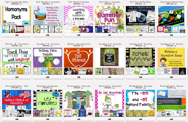 Pinterest Boards for Teachers