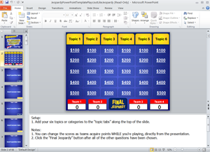 jeopardy powerpoint template - classroom game, Modern powerpoint
