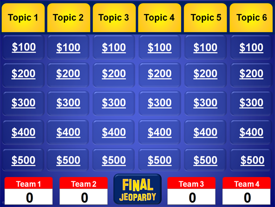 Jeopardy PowerPoint Template - Classroom Game