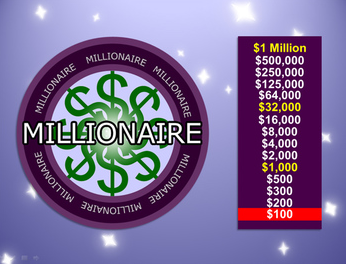 Millionaire powerpoint game template best teacher for Who want to be a millionaire game template