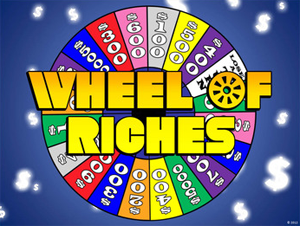 wheel of fortune powerpoint template - classroom game, Powerpoint templates