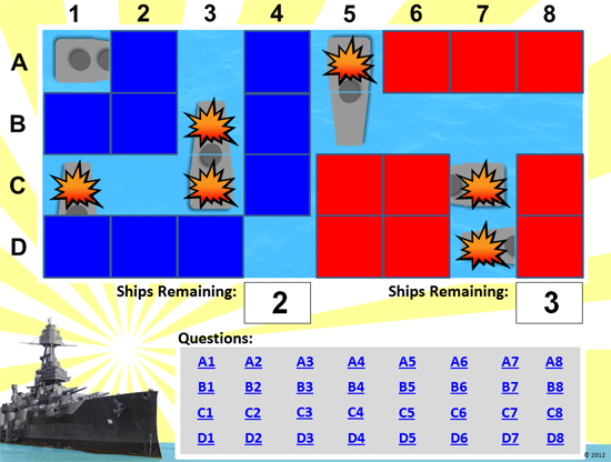 Battleship Powerpoint Game Template - Classroom Game