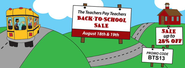 Teachers Pay Teachers Back to School Sale 2013