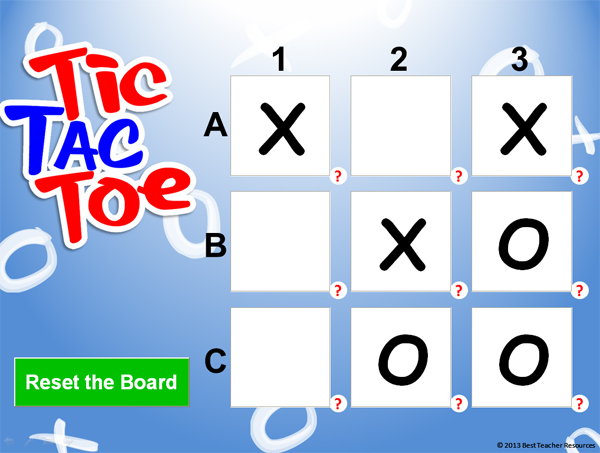 Tic Tac Toe PowerPoint Game Template