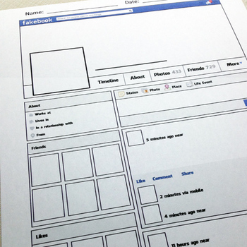 Printable Facebook Profile