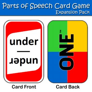 Parts of Speech Game expansion pack