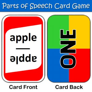 Parts of Speech card game