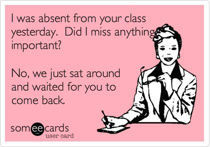 Teacher eCard - Missed Class