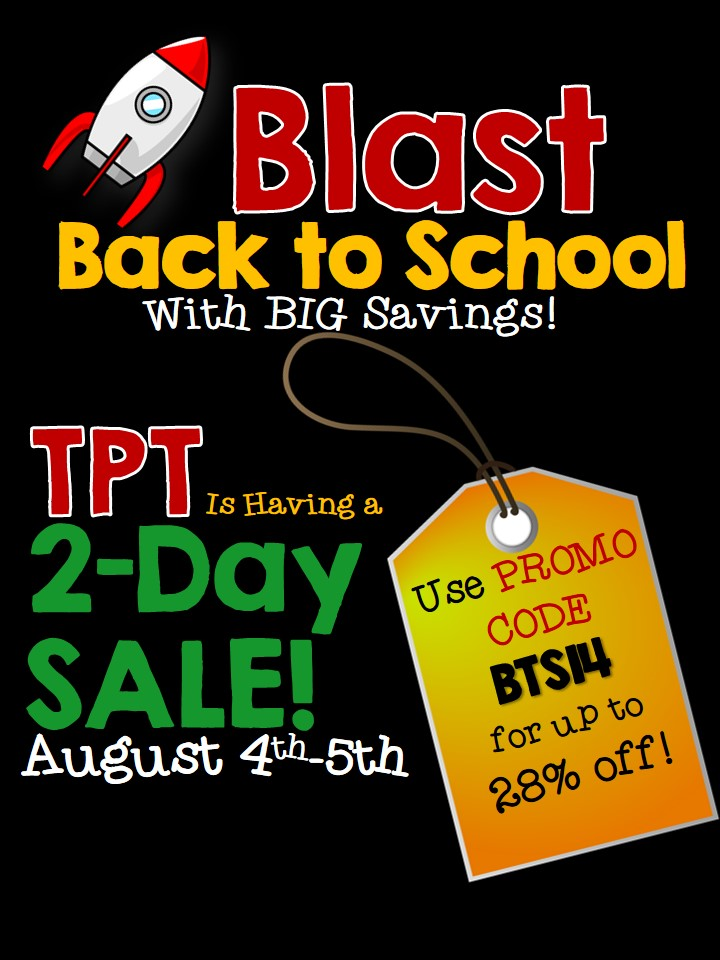 Teachers Pay Teachers Back to School Sale 2014