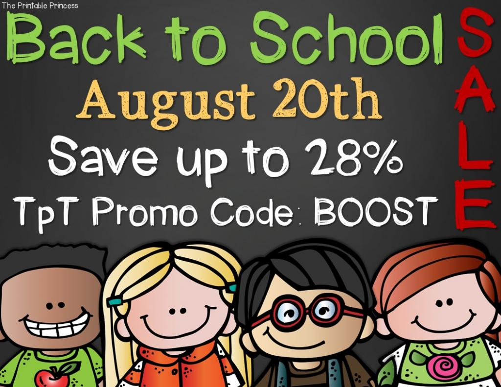 Back to School Sale - TpT